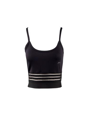 Slazenger Push Kadın Kısa Kol Tişört Siyah